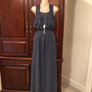 Chelsea and Violet maxi dress with hearts